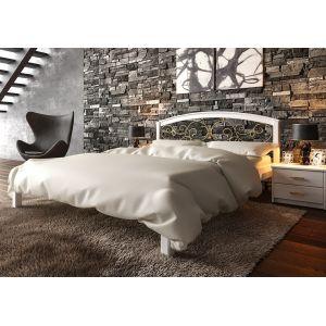 Полуторная кровать Британия с ковкой (ЧДК) 140*190-200 см