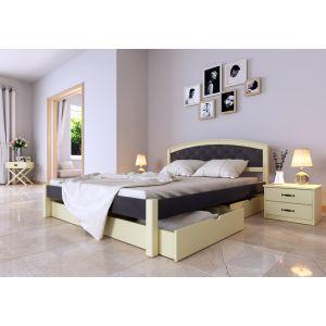 Двуспальная кровать Британия Комби  (ЧДК) 160*190-200 см