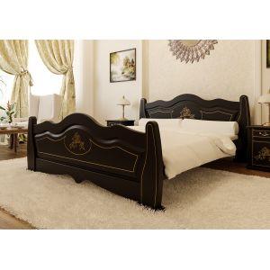 Полуторная кровать Мальва (ЧДК) 140*190-200 см
