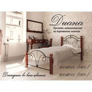 Односпальная кровать Диана на деревянных ногах 90*190-200 см