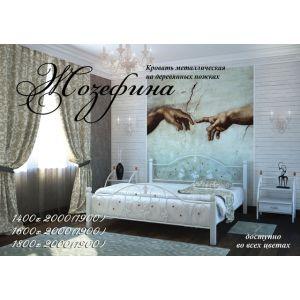 Двуспальная кровать Жозефина на деревянных ногах 160*190-200 см