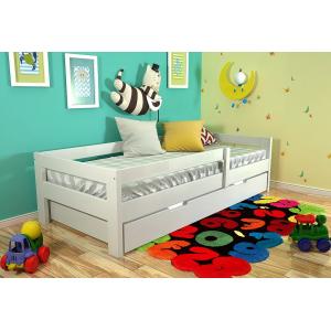 Односпальная кровать Альф с дополнительным выкатным спальным местом 90*190-200 см