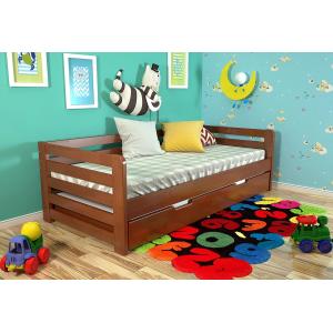 Кровать Немо с дополнительным спальным местом 90*200 см (цвет яблоня) + 2 матраса (РАСПРОДАЖА)