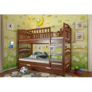 Двухъярусная кровать Смайл с выкатным спальным местом 90*190-200 см