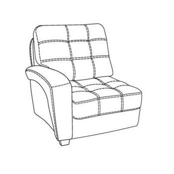 """Модуль """"Кресло"""" с подлокотником дивана Атлант"""