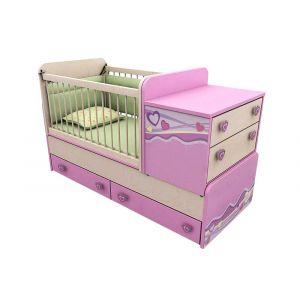 Кровать-манеж Pink 30 (70*180)