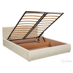 Кровати в обивке с подъемным механизмом