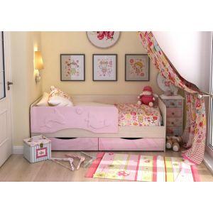 Детская кровать Алиса 90*190 см с дополнительным спальным местом (80*180 см)