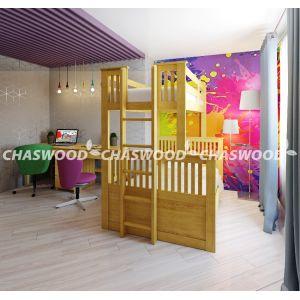 Двухъярусная кровать-трансформер Кузя 90*190 и 120*190 см
