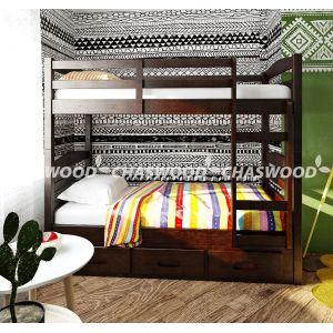 Двухъярусная кровать-трансформер Лео 90*190 см