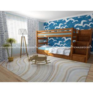Двухъярусная кровать-трансформер Саванна 90*190 см