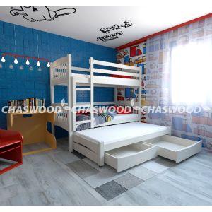 Двухъярусная кровать Трио плюс 90*190 см с дополнительным спальным местом (90*180 см)