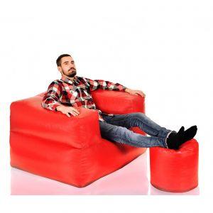 Бескаркасный диван с пуфом Twix XXL