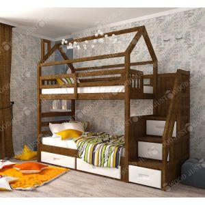 Двухъярусная кровать Аладин 90*190