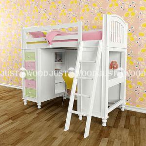 Комплект детской мебели Гуффи (кровать + стол + комод) 90*190 см