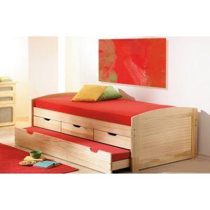 Детская кровать Капитошка 90*190 см с дополнительным спальным местом (80*180 см)
