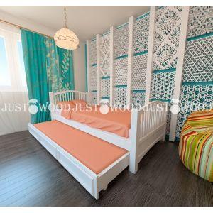 Детская кровать Каролина 90*190 см с дополнительным спальным местом (80*180 см)