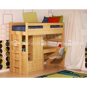 Комплект детской мебели Леопольд (кровать + стол + стеллаж) 90*190 см
