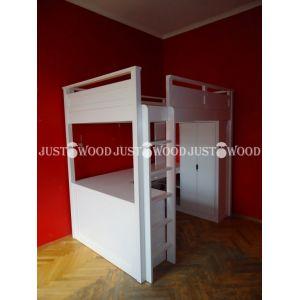Комплект детской мебели Лофт 2 (кровать + стол + комод + стеллаж) 90*190 см