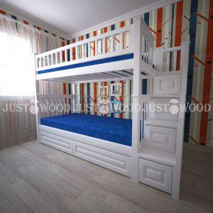 Двухъярусная кровать Простоквашино Плюс 90*190