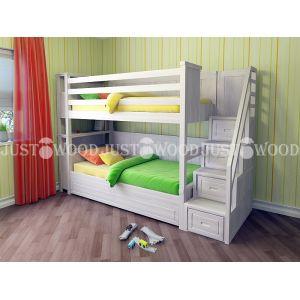 Двухъярусная кровать Синдерелла Плюс 90*190