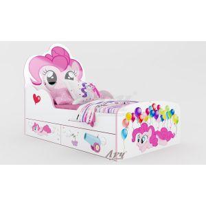 Детская кровать Пинки Пай - Little Pony 80*160 см