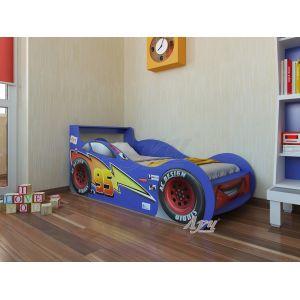 Кровать-машинка Молния Маквин - Тачки 80*160 см (синяя)