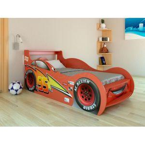 Кровать-машинка Молния Маквин - Тачки 80*160 см (красная)