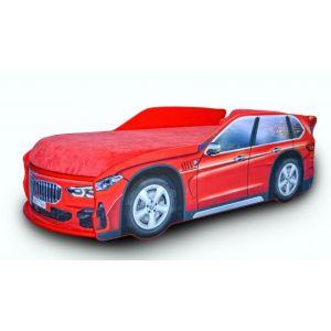 Кровать-машинка с матрасом BMW X-5 80*170 см (Мебелькон)