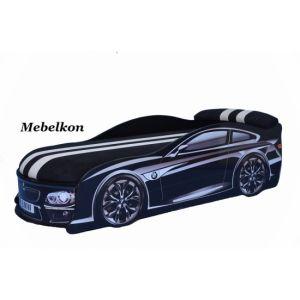 Кровать-машинка с матрасом BMW 70*155 см (Мебелькон)