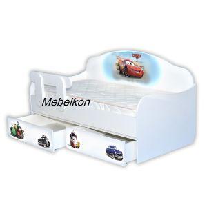 Детская кровать-диванчик Тачки 80*160 см (Мебелькон)