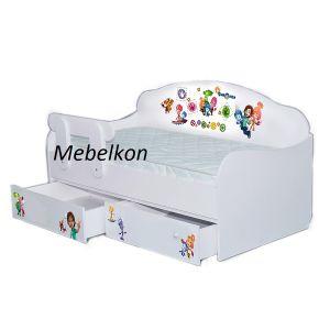 Детская кровать-диванчик Фиксики 80*190 см (Мебелькон)