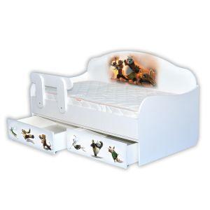 Детская кровать-диванчик Панда Кунфу 80*160 см (Мебелькон)