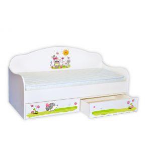 Детская кровать-диванчик Совенок 80*160 см (Мебелькон)