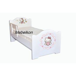 Детская кровать Хелло Китти 80*190 см (Мебелькон)