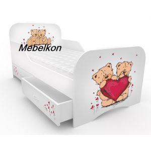Детская кровать Мишки с бортиком 80*190 см (Мебелькон)