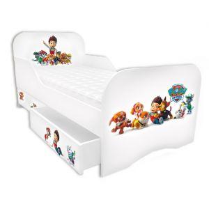 Детская кровать Щенячий патруль с бортиком 80*190 см (Мебелькон)