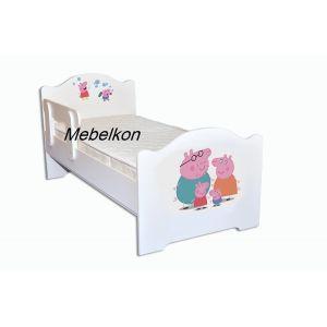 Детская кровать свинка Пеппа 80*160 см (Мебелькон)