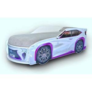 Кровать-машинка с матрасом Lexus 80*170 см (Мебелькон)