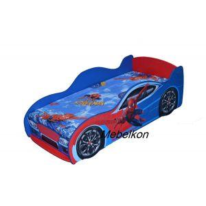 Кровать-машинка Спайдермен 80*170 см (Мебелькон)