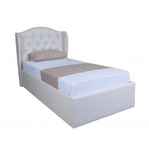 Односпальные кровати в обивке