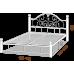 Полуторная кровать Анжелика на деревянных ногах 140*190-200 см