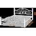 Двуспальная кровать Жозефина на деревянных ногах 180*190-200 см