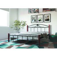 Двуспальная кровать Кассандра на деревянных ногах 160*190-200 см