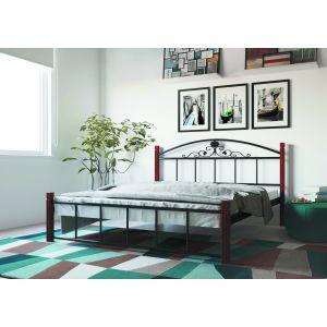 Полуторная кровать Кассандра на деревянных ногах 140*190-200 см