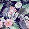 Akwarela Kwiaty Ptaki