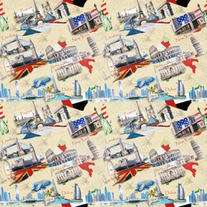 Микро-рогожка World City (Города мира)