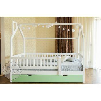 Кровать-домик Викки New Plus 90*200 см с ящиками и бортиками