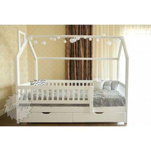 Кровать-домик Викки New 90*200 см с ящиками и бортиками