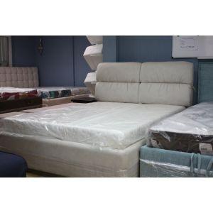 Кровать Манчестер с подъемным механизмом 140*200 см замша Antares Marble (РАСПРОДАЖА с выставки)